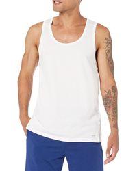 Amazon Essentials Performance Cotton Tank undershirts - Blanc