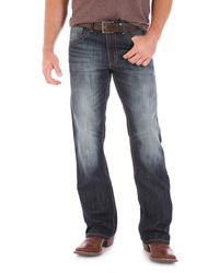 Wrangler Jeanshose Tall 20X Collection Vintage Bootcut - Blau