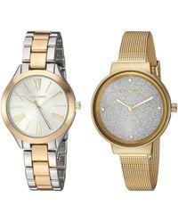 Steve Madden Fashion Watch (model: Smws052tg) - Metallic