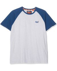 Superdry Label Baseball S/s Tee Kniited Tank Top - Grey