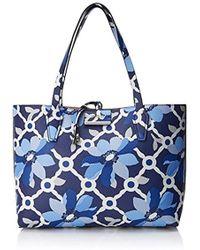 Bleu Lyst Shopper Guess Sac En Femme Coloris Rf642215 xw16Sq0w7