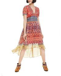Desigual WOMAN WOVEN DRESS SHORT SLEEVE - Multicolore