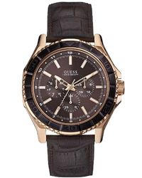 Guess - BROWN GENT orologi uomo W0520G1 - Lyst