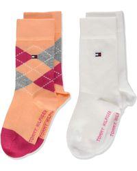 Tommy Hilfiger Th Kids Original Argyle Sock 2p Calcetines - Rosa