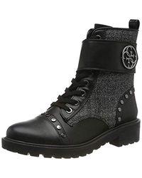 Guess Heathire/stivaletto (bootie)/l Biker Boots - Black