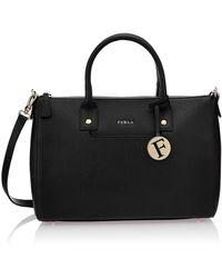 Furla Linda Satchel Top Handle Bag - Black