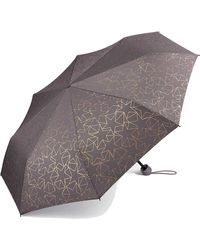 Esprit Regenschirm mit Glitter-Sternen - Grau
