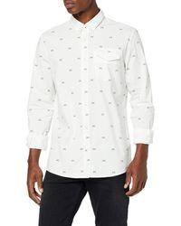 Tom Tailor Ray Langarm Freizeithemd - Weiß