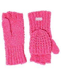 Superdry Clarrie Stitch Mitten Gloves - Pink