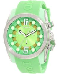 Izod Izs2/5 Green/yellow Sport Quartz Chronograph Watch
