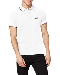 Superdry Poolside Pique S/s Polo - Blanc