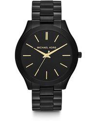 Michael Kors Reloj Cronógrafo para Mujer de Cuarzo con Correa en Acero Inoxidable MK5491 - Negro