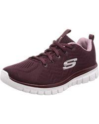 Skechers 12615/WINE Graceful-Get Connected Sneaker dunkelrot/rosa