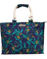 Superdry G91101et Tote Bag Multicolour Multicolore - Blue