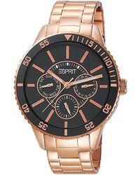Esprit Armbanduhr XL Marin Speed Rose Gold Analog Quarz Edelstahl ES105082006 - Schwarz