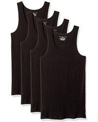 Tommy Hilfiger Undershirts 4 Pack Cotton Classics A-shirts - Black