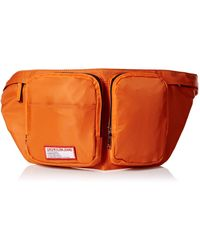 Calvin Klein Zippered Belt Bag with Logo Patch Bauchtasche - Orange