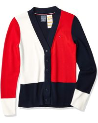 Tommy Hilfiger Adp W Sandra Fndl Rib Cb Cardigan Sweater - Blue