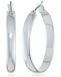 Anne Klein - Classics Classic Silver-tone Hoop Earrings - Lyst
