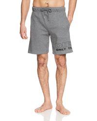 DIESEL Pan Grey Jersey Shorts X-large