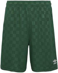 Umbro Checkered Shorts - Grün