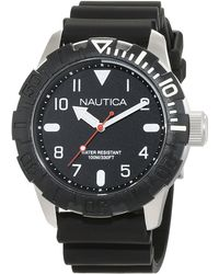 Nautica Analog Quarz Uhr mit Silikon Armband NAD18519G - Schwarz