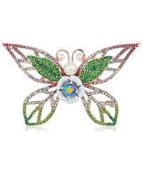 Betsey Johnson - Colorful Tonal Butterfly Brooaches And Pins, Pink/green, One Size - Lyst