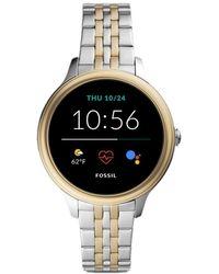 Fossil Smartwatch GEN 5E Connected da Donna con Wear OS by Google - Metallizzato