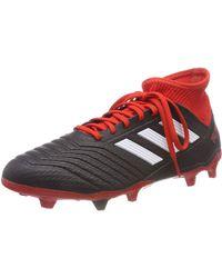 adidas Predator 18.3 FG, Chaussures de Football Homme - Rouge