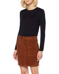 Dorothy Perkins W44:tan Cord Skirt Rock - Braun