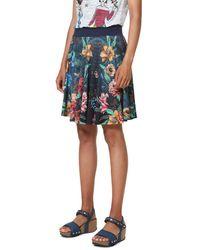 Desigual Skirt Short Curiosity Blue Rock - Blau