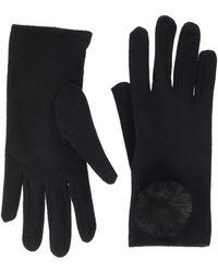 Dorothy Perkins Pom Fleece Glove - Black