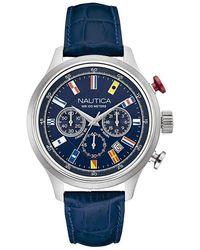 Nautica - Orologio Cronografo Quarzo Uomo con Cinturino in Pelle NAI16520G - Lyst