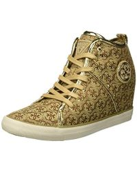 Guess - ''s Jilly Hi-top Trainers - Lyst