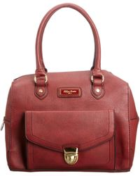 Tommy Hilfiger S Zoe Duffle Top-handle Bag Berry Red