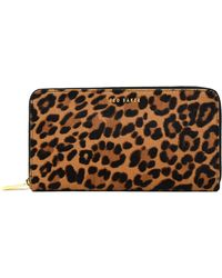 Ted Baker Averyy Leopard Print Purse - Brown