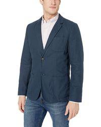 Goodthreads Blazer pour homme en lin à coupe ajustée - Bleu