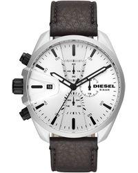 DIESEL - Quartz Montre avec Bracelet en Cuir véritable DZ4505 - Lyst