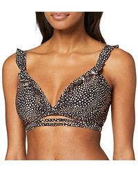 Seafolly Safari Spot Wrap Bralette Reggiseno Bikini Donna - Nero