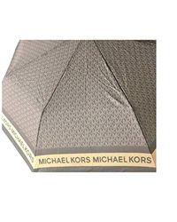 Michael Kors Mk Logo Umbrella Brown Signature
