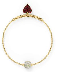 Swarovski - Remix Collection Heart Strand - Lyst
