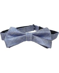 Ted Baker Cosbow Subtle Check Bow Tie In Blue