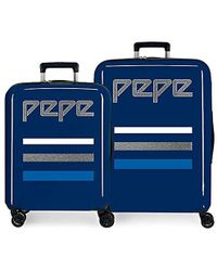 Pepe Jeans Taking Off Luggage Set 70 Centimeters 119.4 Blue (azul)