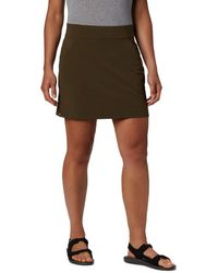 Columbia Plus Size Anytime Casual Straight Skort - Green