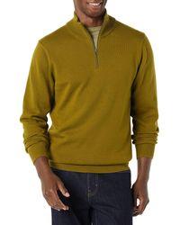 Amazon Essentials 100% Cotton Quarter-zip Jumper - Green