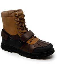 Nautica Kressler Lace Up Adjustable Strap Winter Snow Boots Insulated Water Resistant Shoe - Multicolore