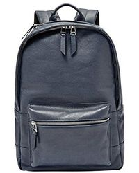 Fossil - Estate Leather Backpack - Lyst
