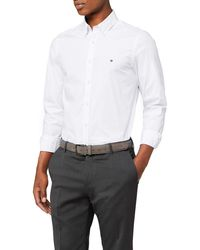 Tommy Hilfiger Core Stretch Slim Poplin Shirt - Blanc