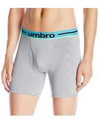 Umbro - Performance Stretch Check Boxer Brief - Lyst