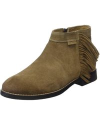 Levi's Sancino Fringe Ankle Boots - Green